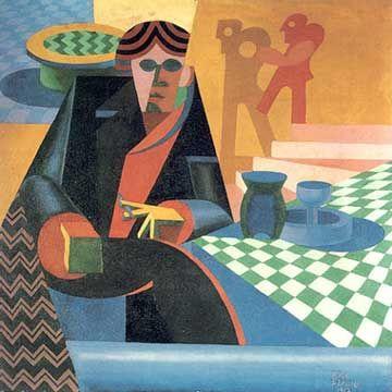 ritratto di Gilbert Clavel, Depero 1918