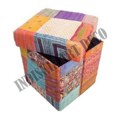 kantha vintage otomana de almacenamiento escabel mobiliariodesala taburetes y otomanos-imagen-Otros muebles antiguos-Identificación del producto:400001722049-spanish.alibaba.com