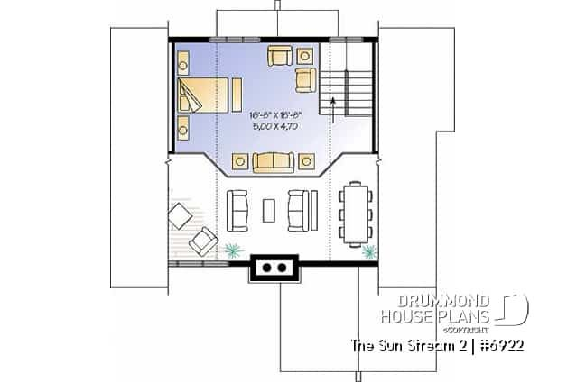 Discover The Plan 6922 The Sun Stream 2 Which Will Please You For Its 2 3 4 Bedrooms And For Its Cottage Chalet Cabin Styles House Plans Drummond House Plans Cottage Plan