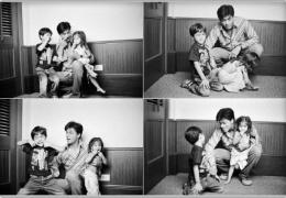 Shahrukh Khan with his children Aryan and Suhana