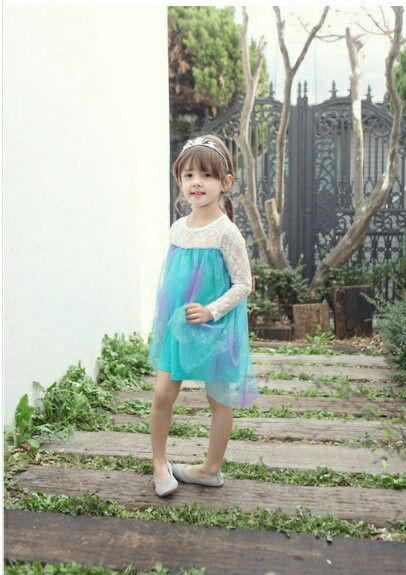 Dress elsa lengan panjang