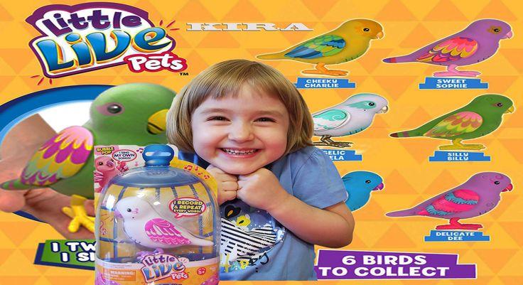 Кира распакует говорящего Попугая робота Kira unbox Little Live Pets toy