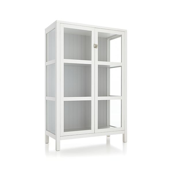 Kraal White Cabinet Crate And Barrel Shelves Laundry Rooms And Fireplaces