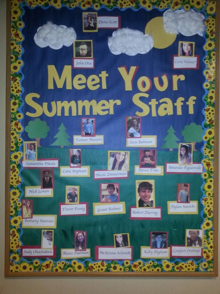 quotmeet your summer staffquot probably the board that i am the