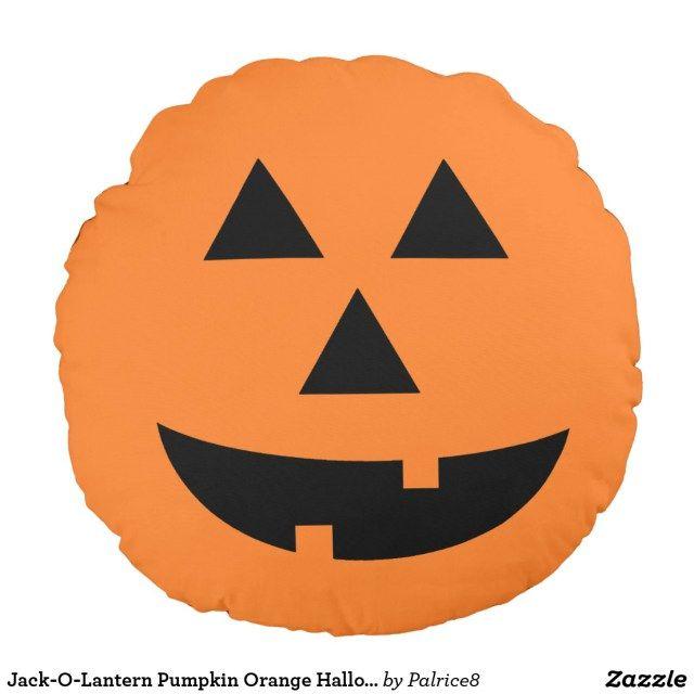 National Pumpkin Day Halloween Pillows Pumpkin Orange Halloween Throw Pillow