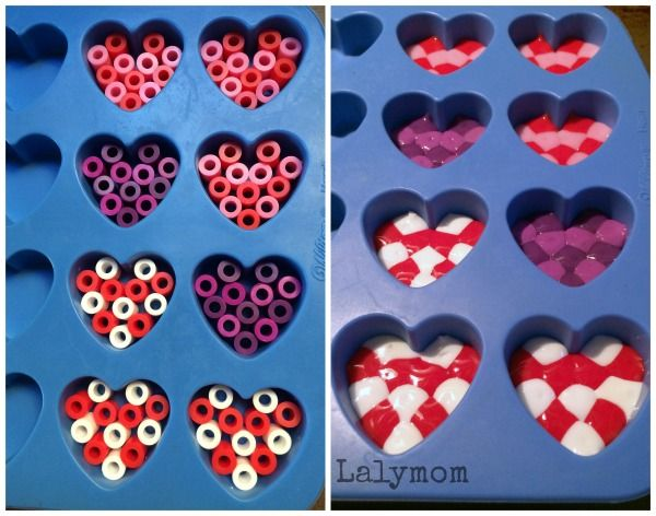 Ooo! Yay! Melting things!! Ever since our shrinky dinks phase, my daughter and I have really enjoyed crafts that involve melting things. Today I'm sharing some cute hearts that we made out of melted pony beads and well…melted melty beads too! Now we have never used melty beads in a melty fashion but we have …