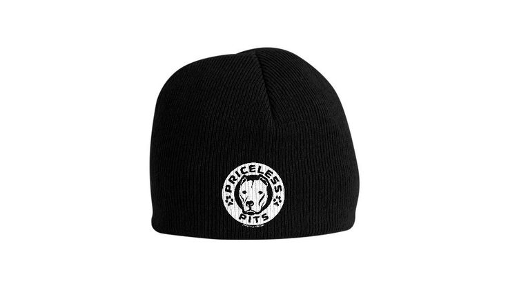"""Priceless Pits Logo"" Black Pitbull Beanie"