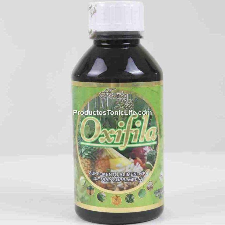Oxifila con Clorofila. Ingredientes de Oxifila:  Oxígeno Chorella Spirulina Alfalfa Sábila Menta Eucalipto Apio Perejil Vitamina C Algas marinas Hojas verdes Piña Calcio de coral