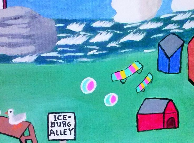 "This is of Newfoundland's ice burgs- called ""iceburg Alley""."