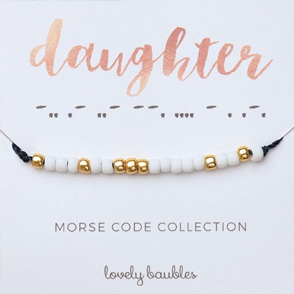 Mother Morse Code Bracelet – Lovely Baubles | Jewelry + DIY Boxes