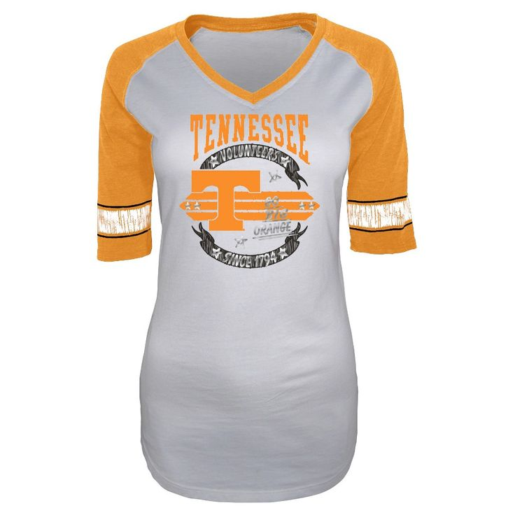 NCAA Tennessee Volunteers Women's Burnout 3/4 Sleeve T-Shirt - L, Size: Large, Blue