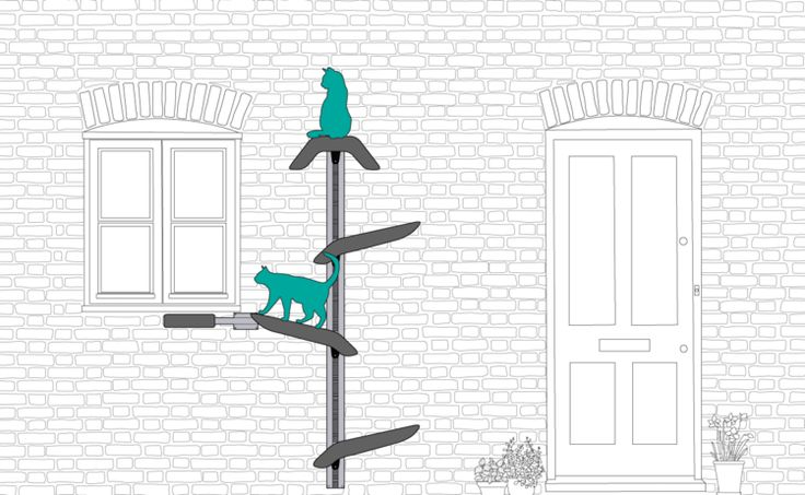 Catipilla can be used as a way for cats to enter homes through a window, providing an innovative alternative to the cat flap. Cat Tree.