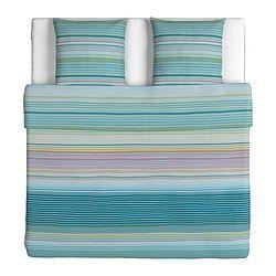 PALMLILJA Housse de couette et 2 taies, turquoise - turquoise - 240x220/65x65 cm - IKEA