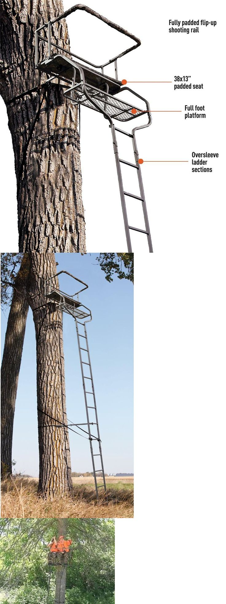 17 best ideas about ladder tree stands on pinterest tree for Climbing tree stand plans