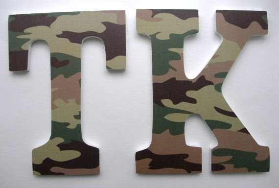 Custom Decorated Wooden Letters MILITARY Theme by LetterLuxe, $10.00