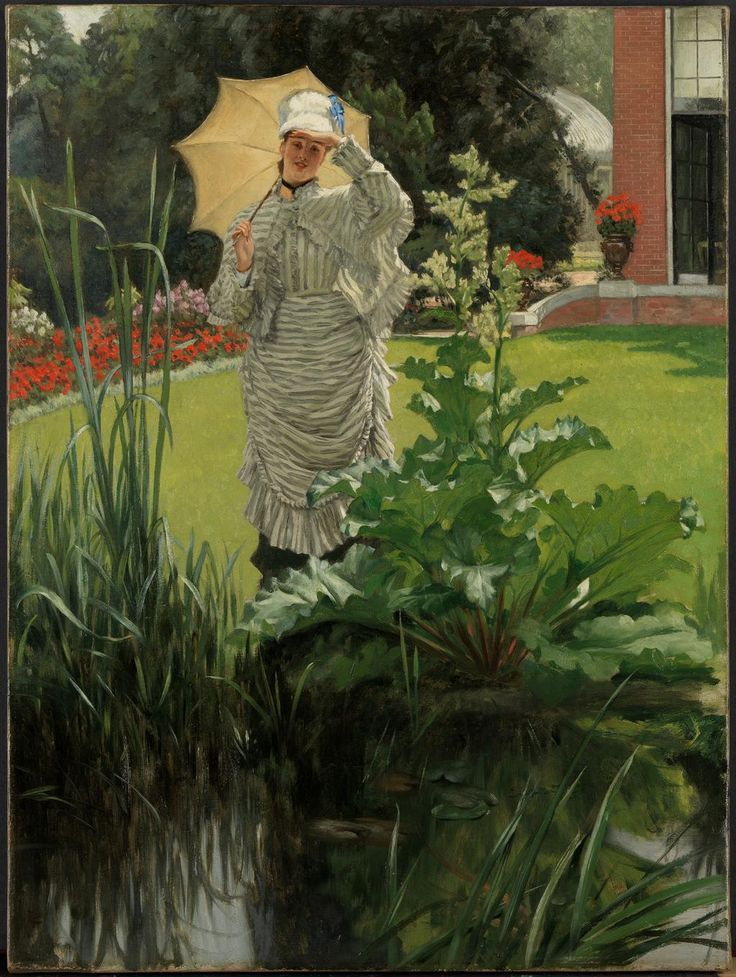 """Happy First Day of Spring! Start the season off with James Tissot's painting """"Spring Morning."""" http://met.org/1BT0P0a"""