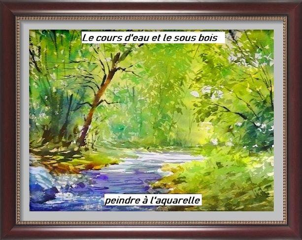 Dessin Et Peinture Video 2938 Comment Peindre Un Ruisseau Dans