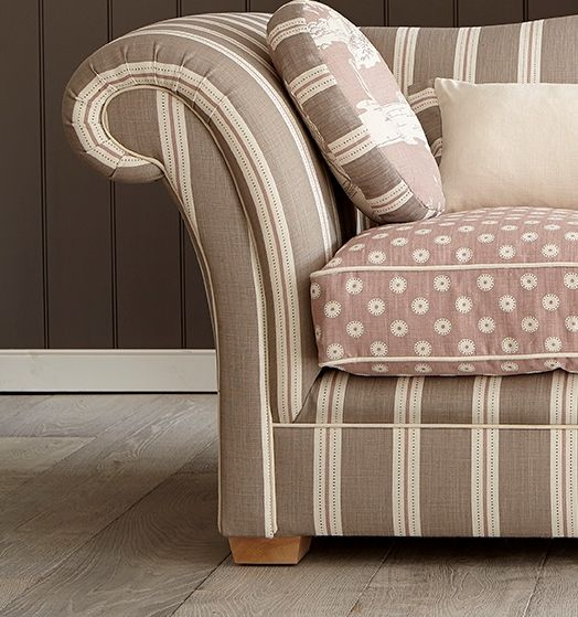 Stockholm Stripe in Whippet, Dusky Pink and Winter