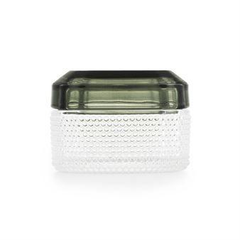 Boîte en verre Brilliant petite - vert foncé - Normann Copenhagen