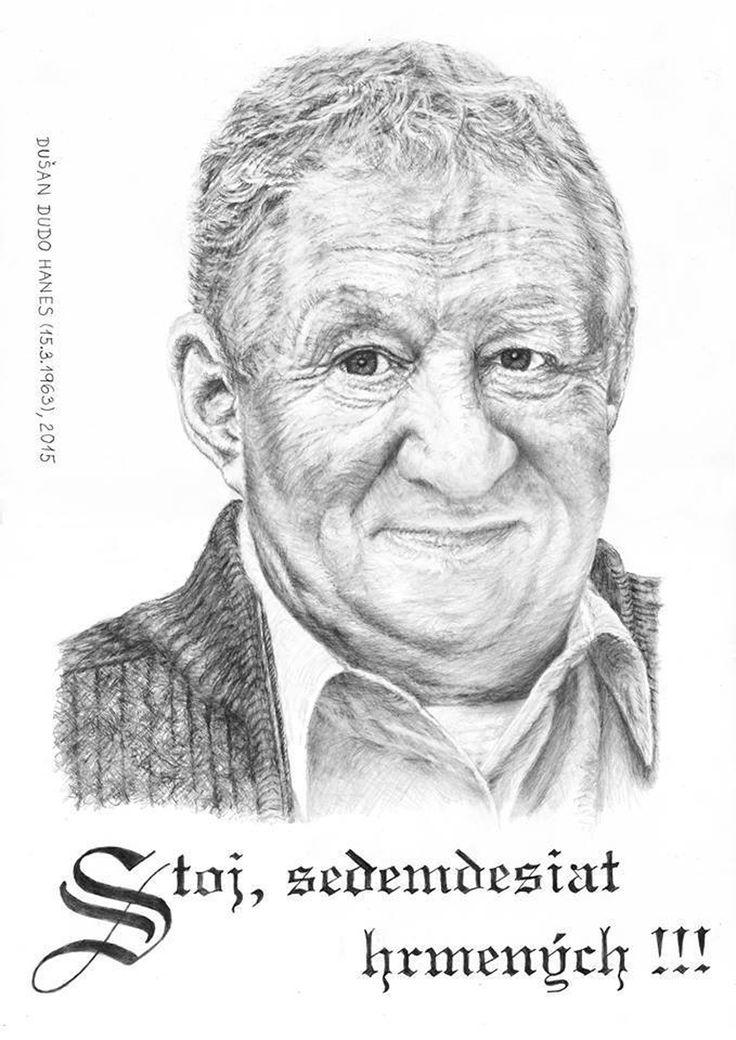 Karol Čálik, portrét Dušan Dudo Hanes - dar k významnému životnému jubileu