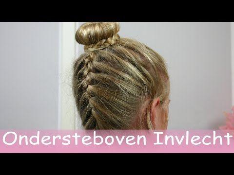 Hoe maak je een onderste boven invlecht met knot - YouTube