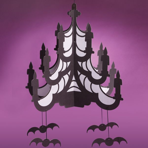 spider chandelier cutout x halloween decor