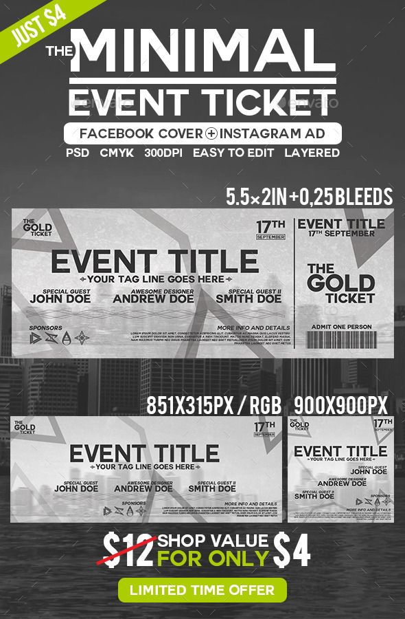 Best Ticket Template Images On   Font Logo Ticket