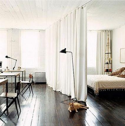 Dividir espacios con cortinas