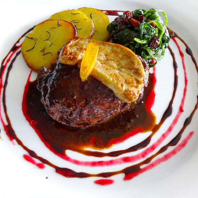 Rossini: Grilled beef tender loin at La Perla Restaurant by Le Coral Hideaway Beyond Phuket.