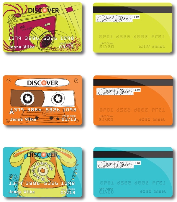 Retro Credit Cards by Jenna Wilke , via Behance