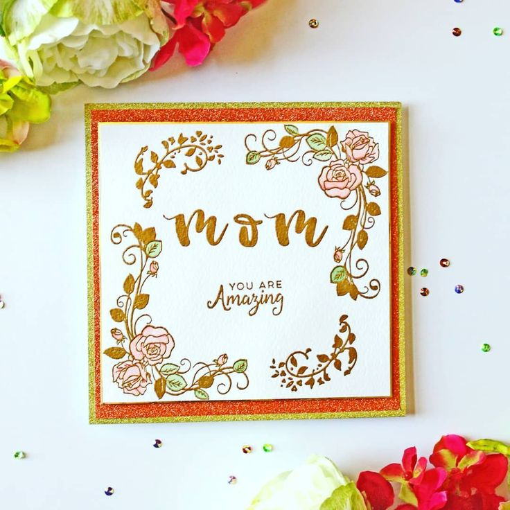 mothers day card crafted - 736×736