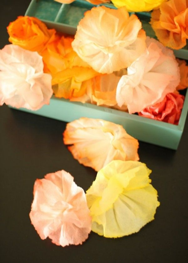 Beautiful flowers made from paper towels! Flower girl petals?