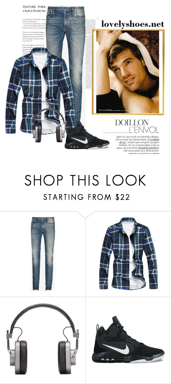 """Average Day Out"" by leo-lover ❤ liked on Polyvore featuring Maison Margiela, Master & Dynamic, NIKE, men's fashion and menswear"