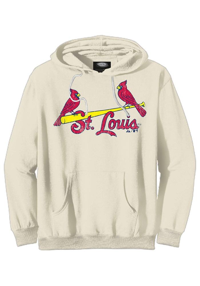 St. Louis (STL) Cardinals Women's Ivory Sweatshirt w/ New Wordmark by Majestic Threads $72.99 www.rallyhouse.com