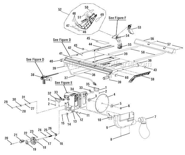 Ryobi RTS30 Parts List and Diagram : eReplacementParts.com