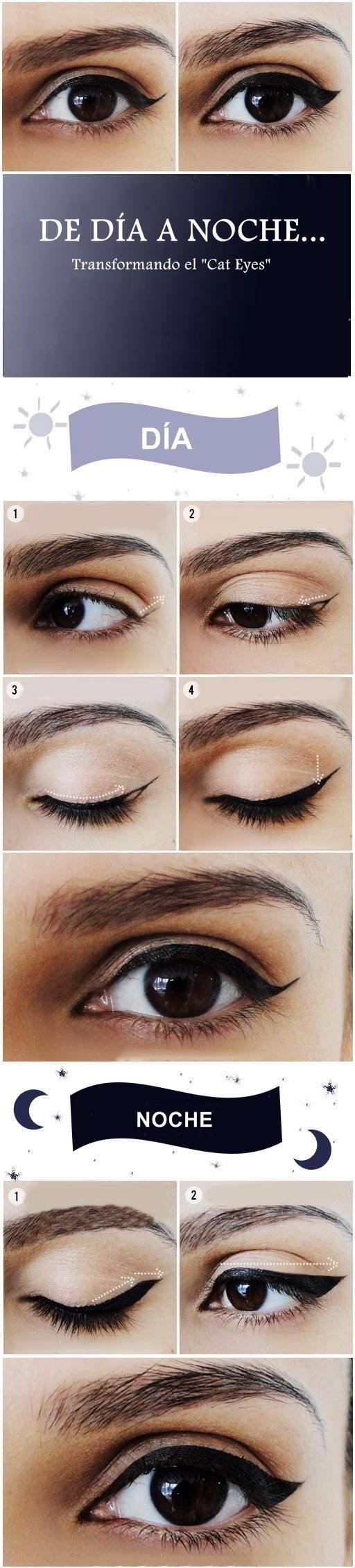 Como pintarse los ojos de día y de noche