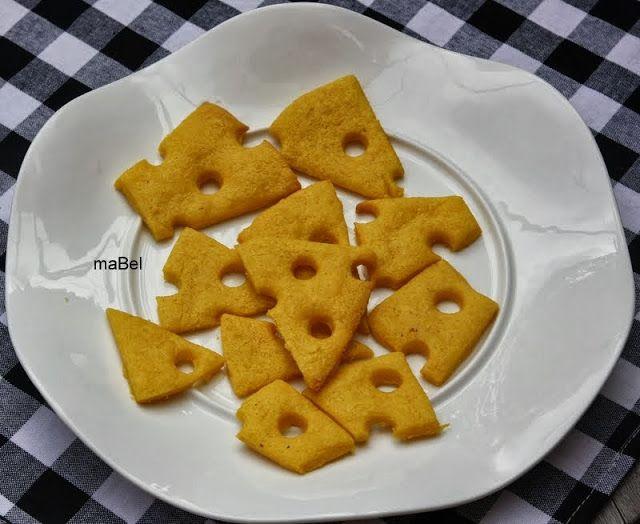 Quesitas - Galletitas faciles de queso ~ Pasteles de colores