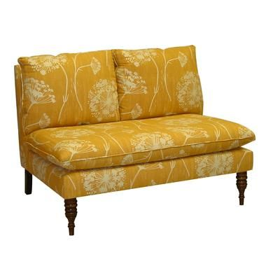 Upholstered Loveseat in Queen Anne's Lace Butterscotch