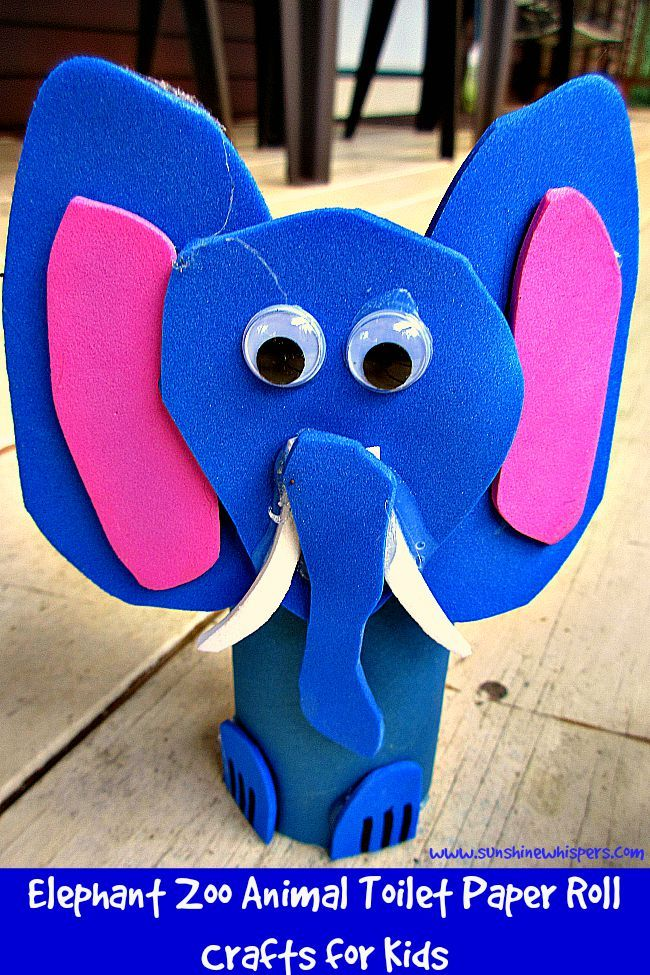 Elephant Zoo Animal Toilet Paper Roll Crafts for Kids - Sunshine Whispers  http://www.sunshinewhispers.com/2015/08/elephant-zoo-animal-toilet-paper-roll-crafts-for-kids/