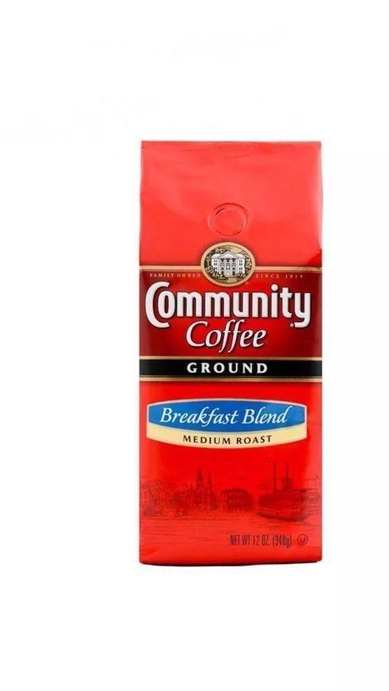 Breakfast Blend Community Coffee Ground Man Women Food