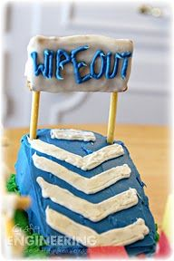 Crafty Engineering: Wipeout Birthday Cake