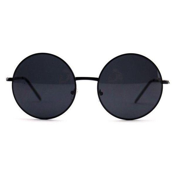 Black Oversized Circle Round Hippie John Lennon Sunglasses ❤ liked on Polyvore featuring accessories, eyewear, sunglasses, rounded sunglasses, plastic sunglasses, oversized round glasses, oversized circle sunglasses and plastic glasses