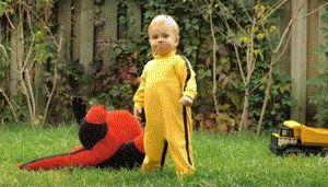 Kill Bill Ninja Toddler Baby GIF
