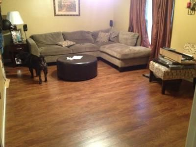 Example of marcona hickory laminate flooring lowe 39 s for Crystal springs hickory laminate