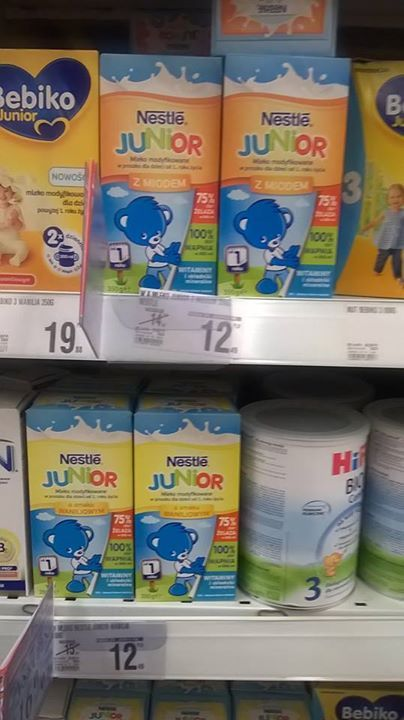 Mlekoholicy #NestleJUNIOR mega promocja w sklepach Real #pysznesmaki #miód #wanilia