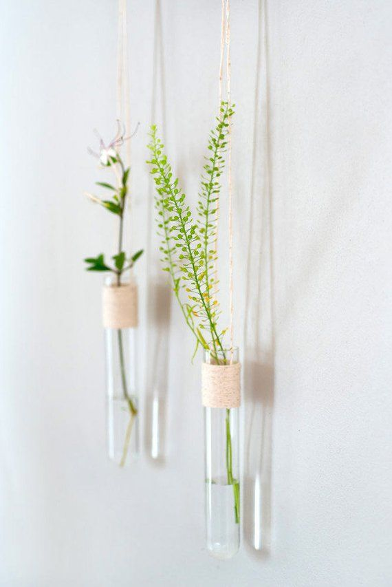 Small Wall Vase Wall Vase For Flowers Test Tube Vase Etsy Wall Flower Vases Hanging Wall Vase Glass Wall Vase