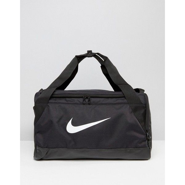 Nike Small Brasilia Holdall Bag In Black BA5335-010 ($32) ❤ liked on Polyvore featuring men's fashion, men's bags, black, men's duffel bags, mens holdall bag and mens sports bags