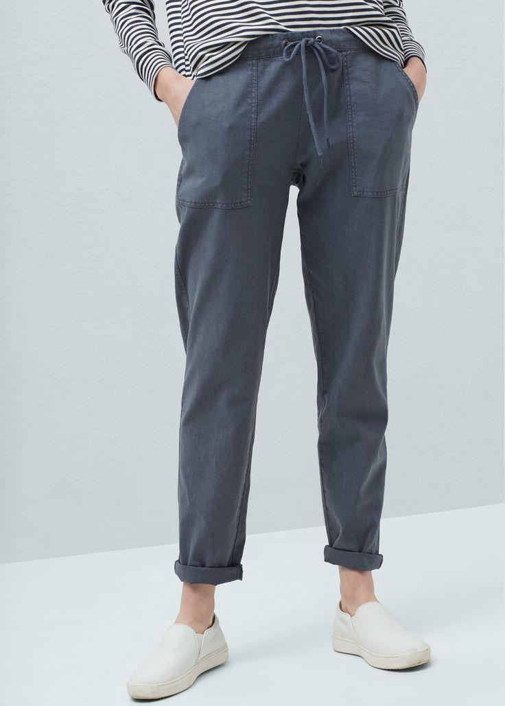 25 best ideas about pantalon lin sur pinterest pantalon en lin pantalon en lin noir et lin noir. Black Bedroom Furniture Sets. Home Design Ideas
