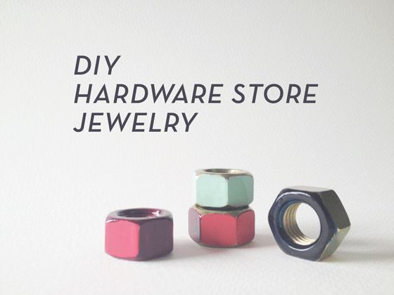 MAKE IT: HARDWARE STORE JEWELRY – Hex Nut Rings