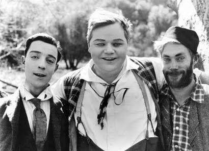 Buster Keaton, Roscoe Arbuckle, Al St John 1917                              …